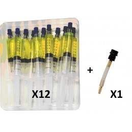 Pack de 12 traceurs en seringues pour compresseur hybride+ raccord avec valve