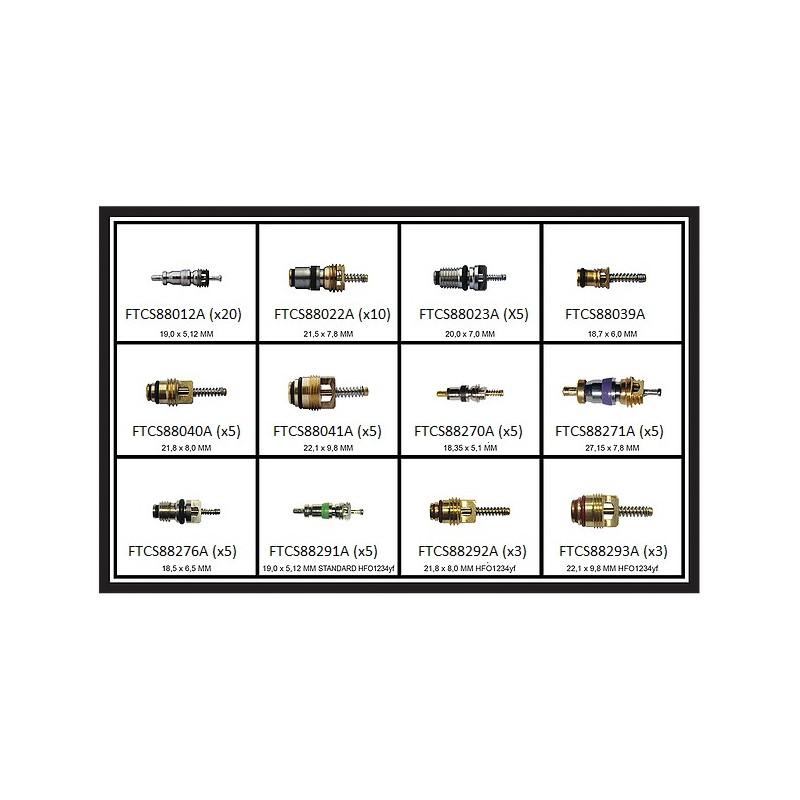 Kit d'obus (12 ref) R12,R134a, R1234YF