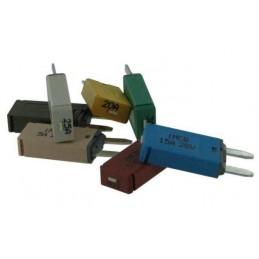 Fusibles disjoncteurs MINI réarmables manuellement 5A 7A 10A 15A 20A 25A
