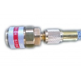 High Pressure hose with check valve for syringe