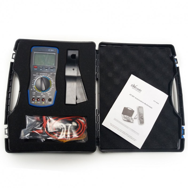 Automotive Multimeter AT-891 + clamp on tachometer