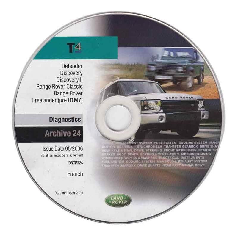 CD de diagnostic Land Rover DRGF024 (archive)