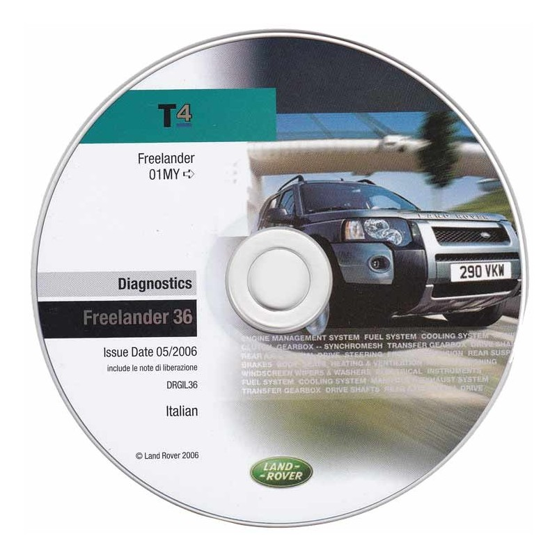 CD de diagnostic Land Rover DRGFL36 (Freelander après 2001)