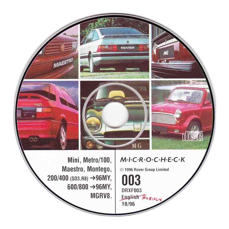 CD diagnostic MG Rover DRXF003 (émulation Microcheck)