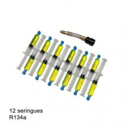 12x7.5ml UV DYE / Additives Leak Detector for R134a + connector