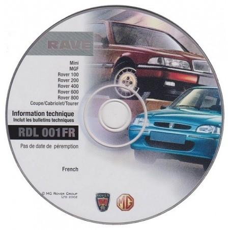 CD d'informations techniques pour anciennes Rover