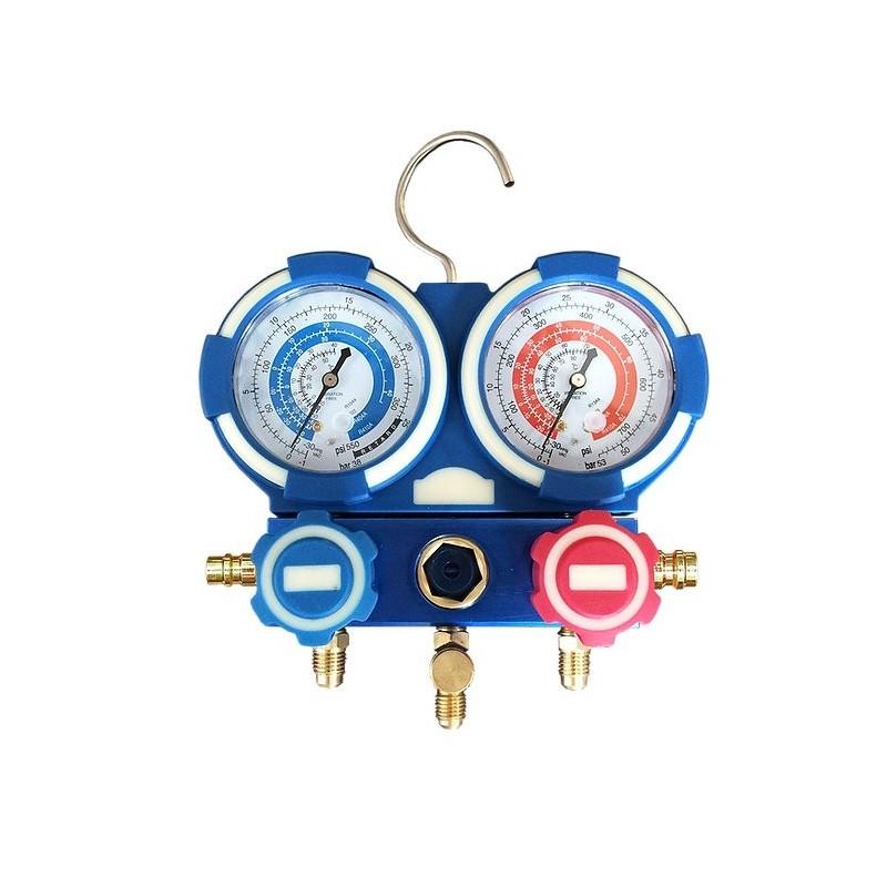 Manomètre pour gaz réfrigérant 2 voies