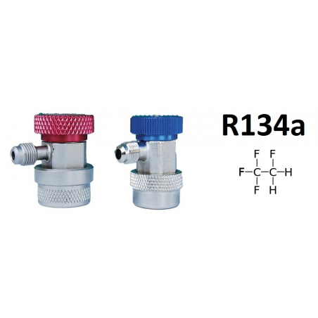 Pack 2 quick couplings R134A 1/4 SAE male