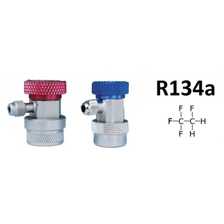 Pack 2 raccords rapides R134A 1/4 SAE mâle