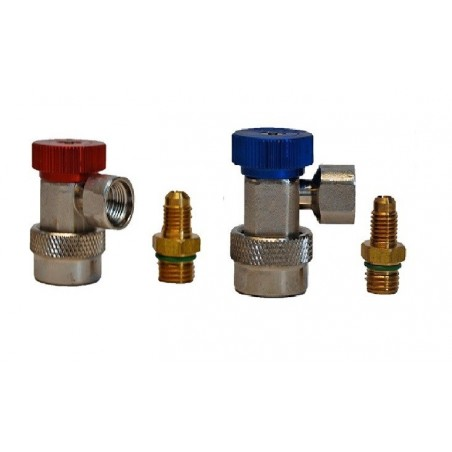 Pack 2 quick couplings HP and LP R134a 1/4 SAE female