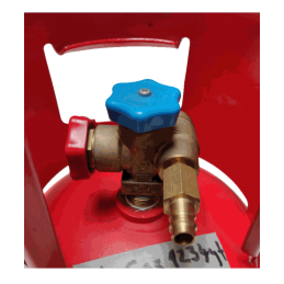 Montage d'adaptateur basse pression r1234yf sur bonbonne de gaz Honeywell