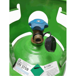 Gas cylinder connection r134a