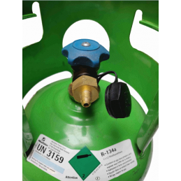 Connection 1/4 SAE for gas cylinder r134a