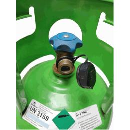 Raccord de bouteille de gaz r134a