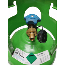 Connection 3/8 SAE for gas cylinder r134a