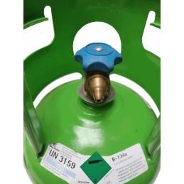 Bouteille de gaz r134a avec raccord mâle 1/4 SAE