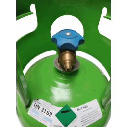 r134a gas cylinder with 1/4 SAE male connection