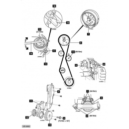 Setting tool for S40 engine