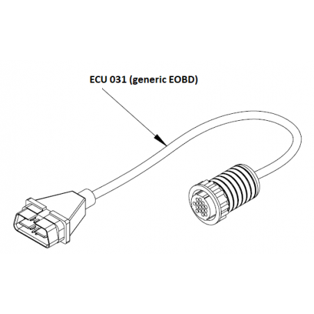 ECU031 - Câble adaptateur EOBD pour ST-6000 / F-Box