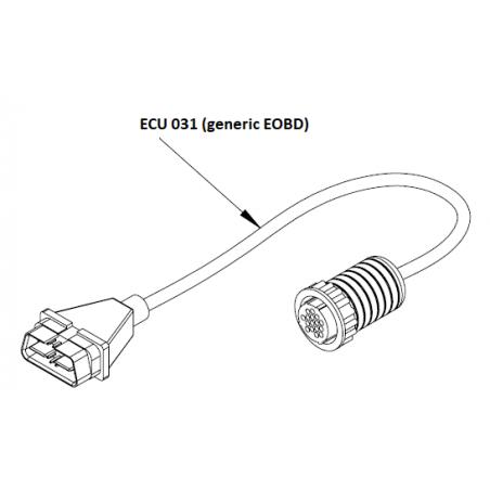ECU031 - EOBD Adaptator cable for ST-6000 / F-Box