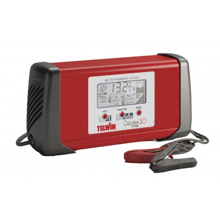 Chargeur Telwin 'Doctor Charge 30' (6-12-24V / 25/25/12A)
