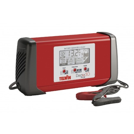 Chargeur Telwin 'Doctor Charge 50' (6-12-24V / 40/40/20A)