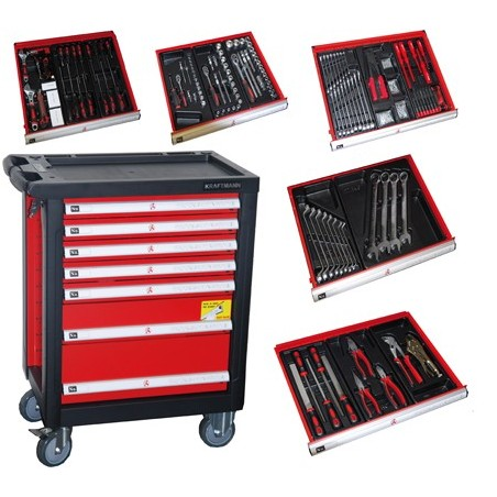 Servante d'atelier 7 tiroirs - 140 outils