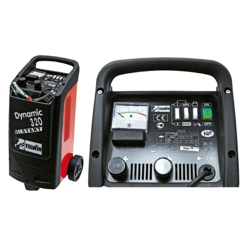 Battery charger with starter