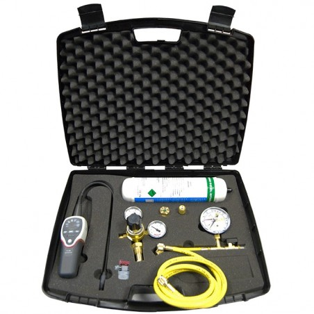 Leak detection kit by hydrogenated nitrogen