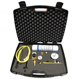 Leak detection kit with nitrogen bottle