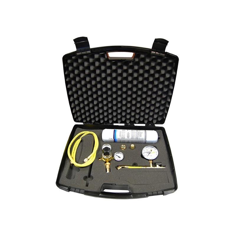 Leak detection kit with nitrogen bottle