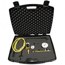 Leak detection kit without nitrogen bottle