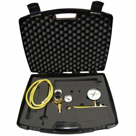 Leak detection kit without nitrogen bottle