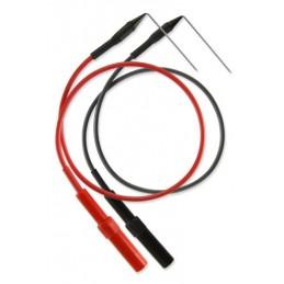 Set of needles bent on thread (Black + Red)
