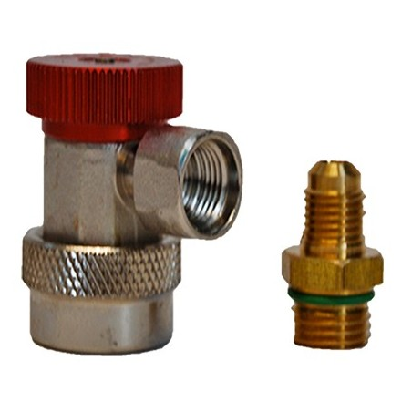 Fast HP Coupler for refrigerent gas R134a