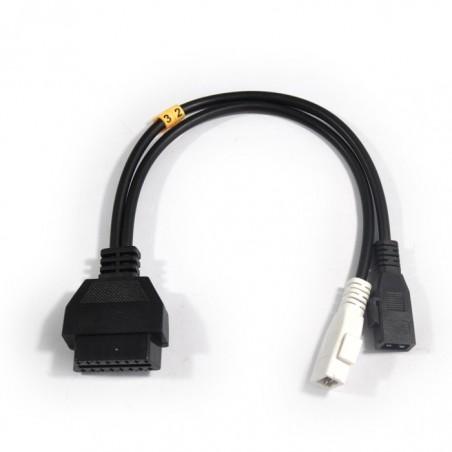 Cable Adaptateur OBD2 à OBDI Audi VW SEAT Skoda (1990 à 1995)