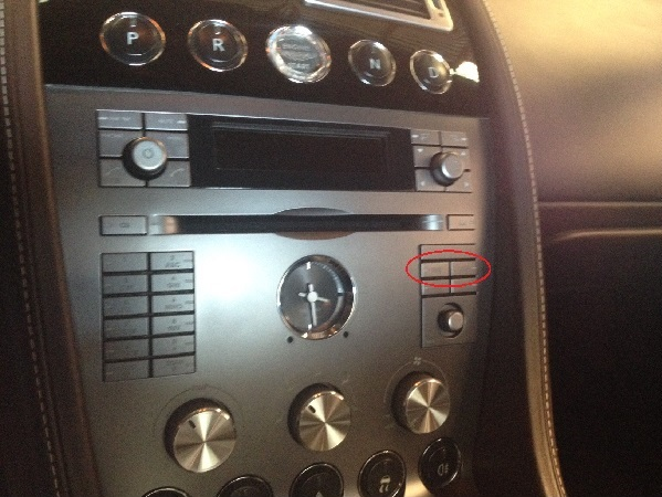 View on Aston Martin control panel